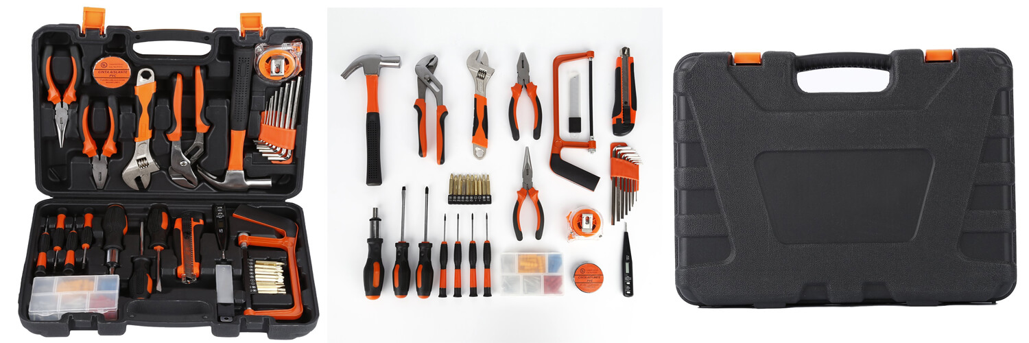 100-Piece Home Tool Kits OUTAD Multi-functional